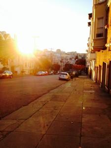 Auch Sonnenuntergänge ohne Meer sind schön - zumindest in dieser Stadt