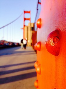 Die Nieten der Golden Gate Bridge