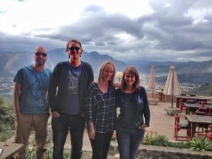 Gruppenbild: John, unser Zimmernachbar, ER, Rapunzel, SIE