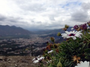 Der Ausblick von San Christobal ins Tal