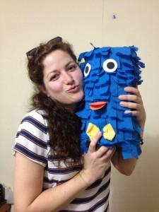 Lisa mit Begrüßungs-Pignata