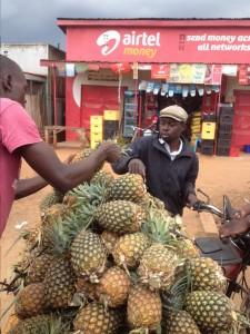 Ananas-Verkauf am Straßenrand