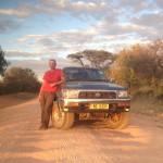 Nils mit seinem Hilux auf dem Weg in den Ruaha-Nationalpark